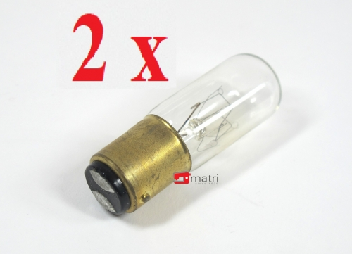 2 X sewing machine overlocker lightbulb bajonet 15 Watt L01