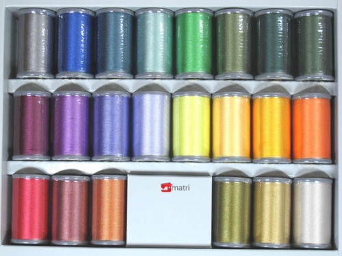 Brother embroidery thread, shiny, 22 colors