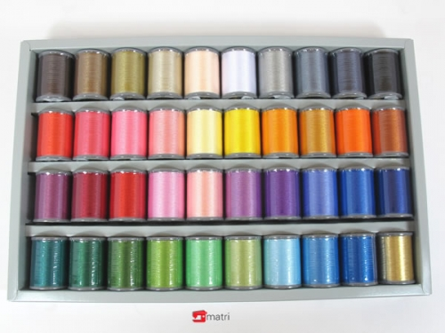 Brother embroidery thread, shiny, 40 colors