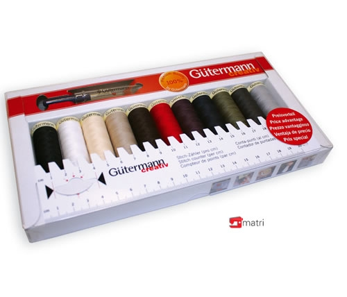 Set Gutermann sewing thread 11 bobbins