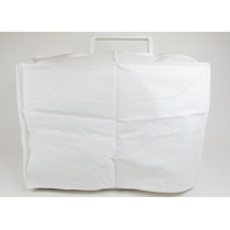 Plastic dust cover for the sewing machine