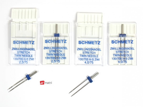 Schmetz pack twin needles stretch